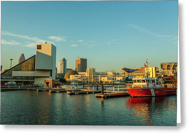 Cleveland Skyline Greeting Card by Richard Nowitz