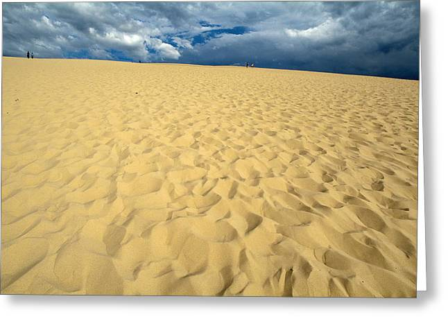 Bassin Greeting Cards - Clouds over the Great Dune of Pyla on the Bassin dArcachon Greeting Card by Sami Sarkis