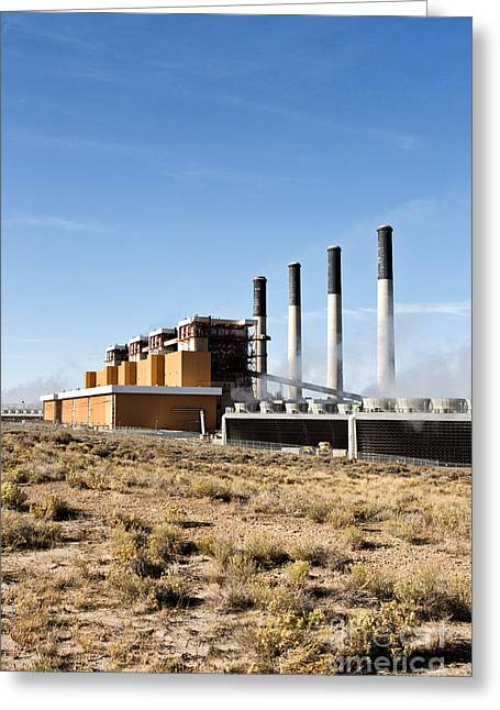 Coal Fired Power Plant Greeting Card by Inga Spence