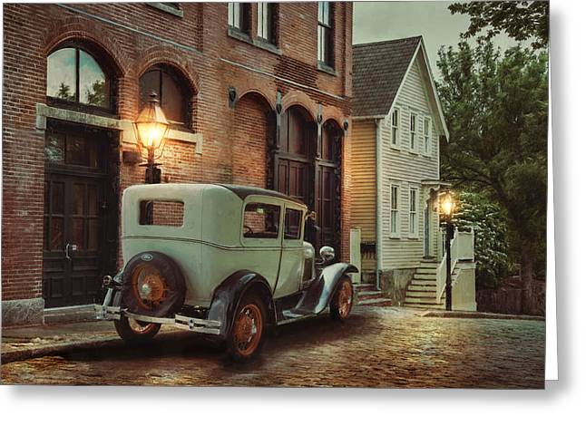 Greeting Card featuring the photograph Cobblestone Streets by Robin-Lee Vieira
