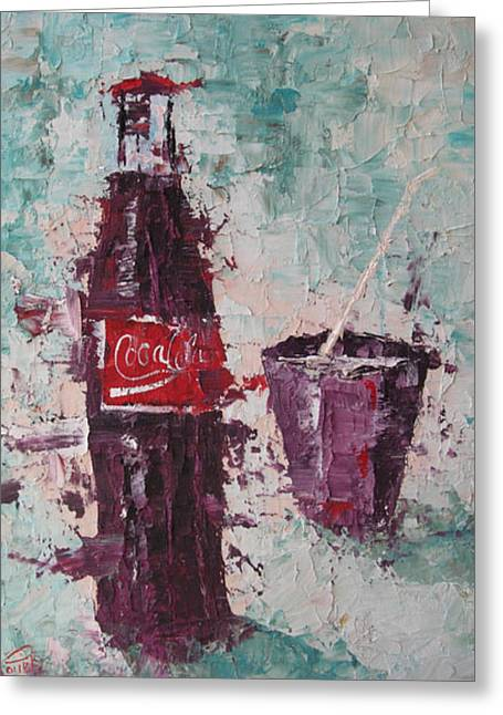 Coca Cola Bottle Greeting Card