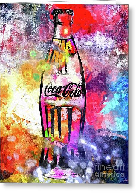Coca-cola Greeting Card by Daniel Janda
