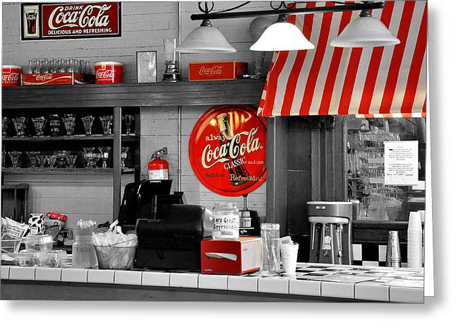 Coca Cola Greeting Card by Todd Hostetter