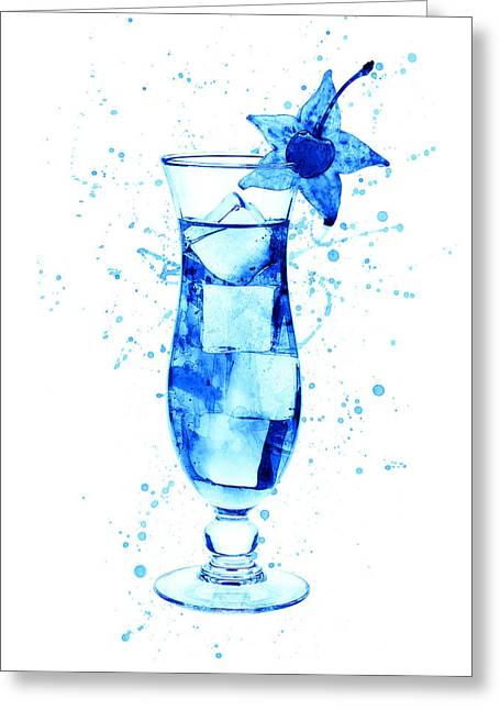 Cocktail Drinks Glass Watercolor Greeting Card
