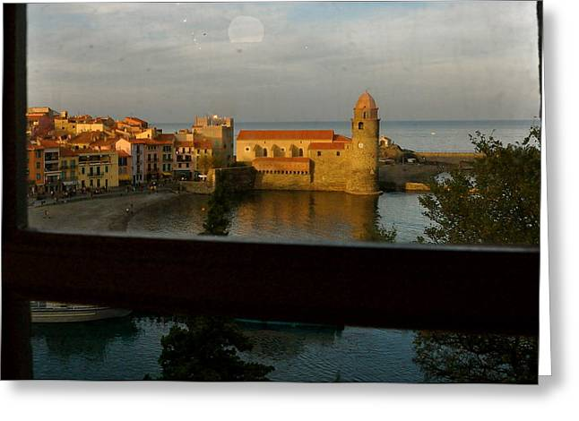 Collioure Sunset Greeting Card by K C Lynch