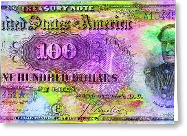 Color Of Money Greeting Card by Jon Neidert