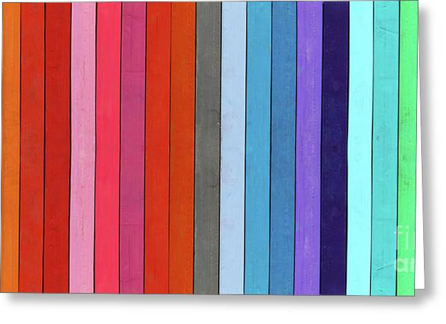 Color Range - Detail Of The Colored Pastels Greeting Card by Michal Boubin