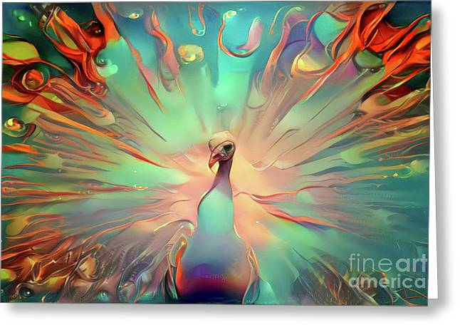 Colorful Peacock Greeting Card