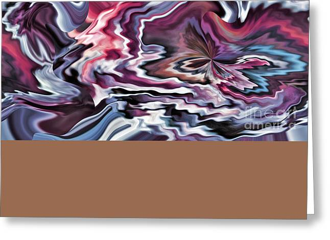 Colors In Motion Xi Greeting Card