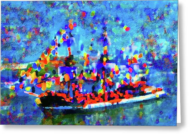 Colors Of Gasparilla Greeting Card