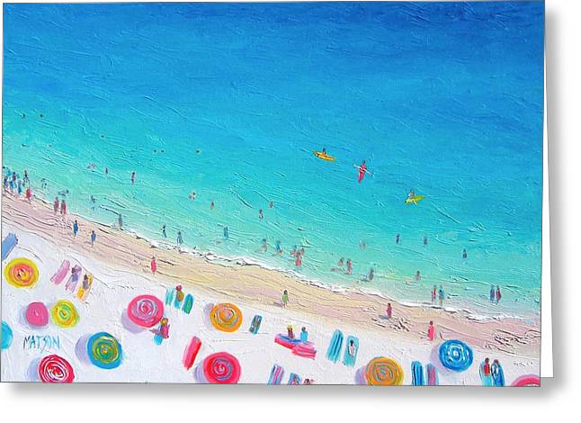 Colors Of The Beach Greeting Card by Jan Matson