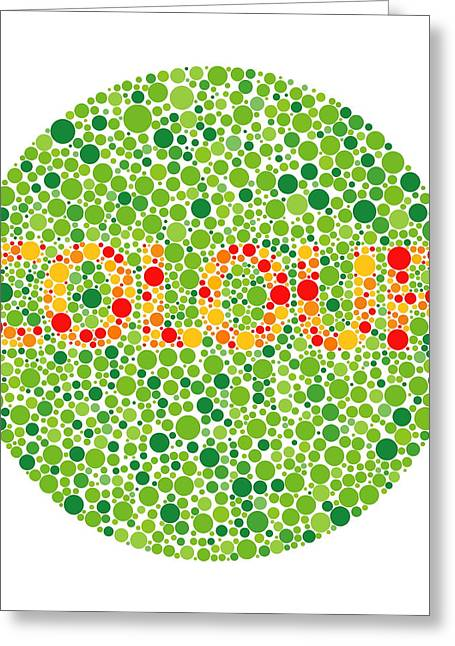 Colour Blindness Test Greeting Card by David Nicholls