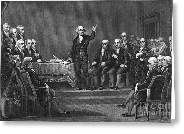 Constitutional Convention Greeting Card by Granger