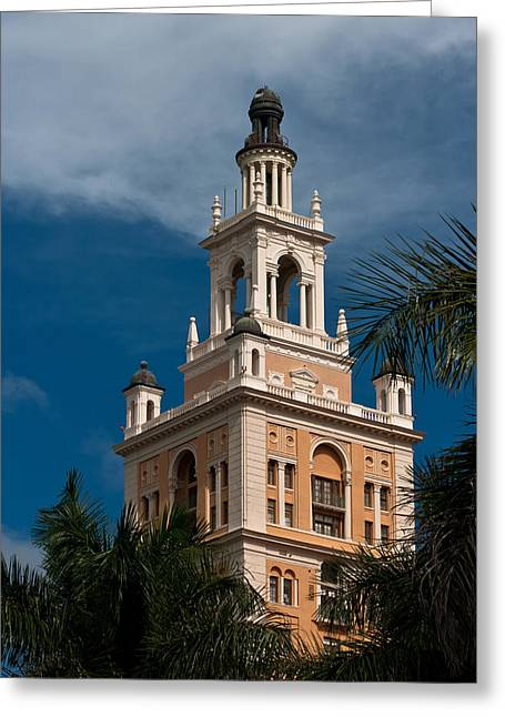 Coral Gables Biltmore Hotel Tower Greeting Card