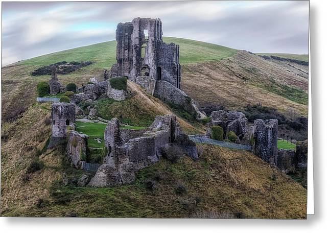 Corfe Castle - England Greeting Card