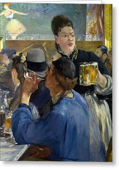 Corner Of A Cafe Concert Greeting Card by Edouard Manet