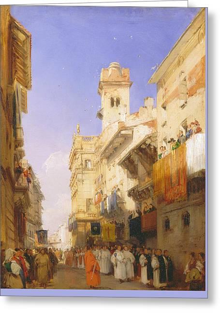 Corso Sant'anastasia, Verona Greeting Card