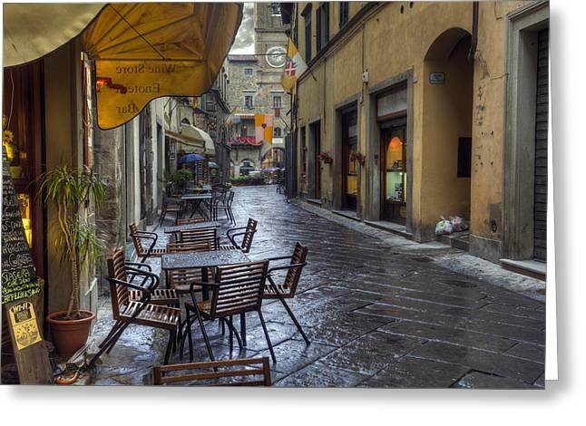 Cortona Tuscany Greeting Card by Al Hurley