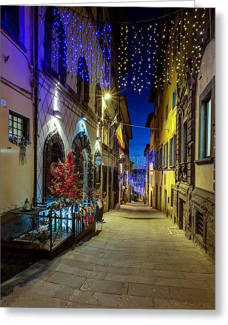 Cortona Via Guelfa Greeting Card