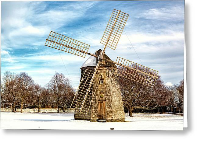 Greeting Card featuring the photograph Corwith Windmill Long Island Ny Cii by Susan Candelario