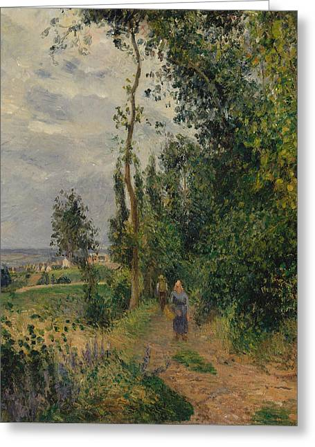 Cote Des Grouettes, Near Pontoise Greeting Card by Camille Pissarro