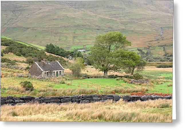 Cottage At The Foothill Of The Colorful Connemara Mountains Ireland  Greeting Card by Pierre Leclerc Photography