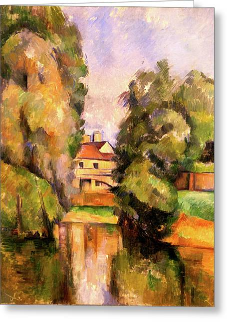 Country House By A River  Greeting Card by Paul Cezanne