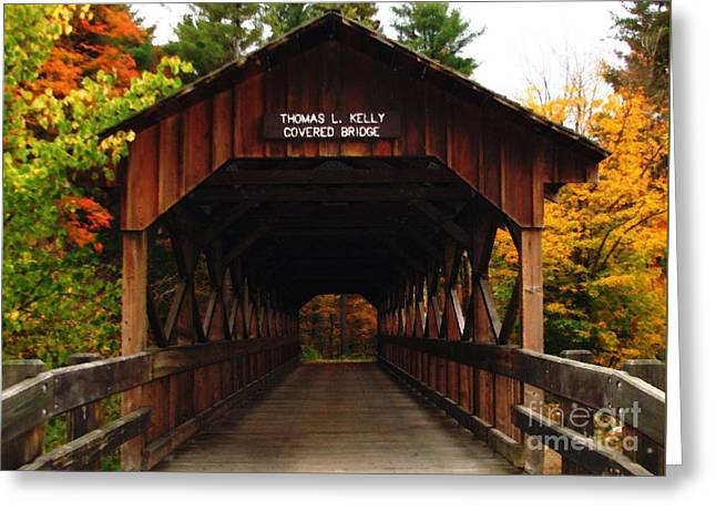 Covered Bridge At Allegany State Park Greeting Card