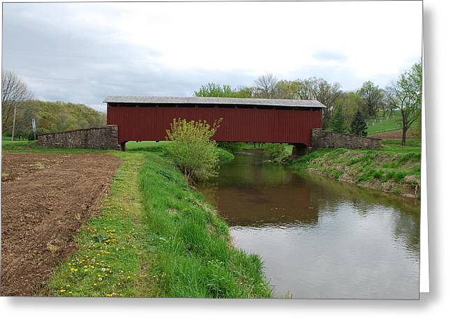 Covered Bridge Greeting Card by Brian Williams