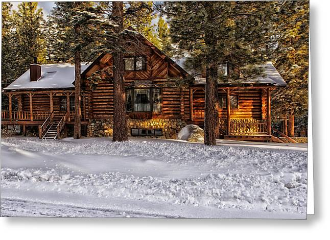 Cozy In Winter Greeting Card by Mountain Dreams