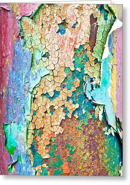 Cracked Paint Greeting Card