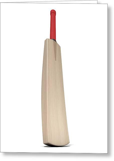 Cricket Bat Greeting Card