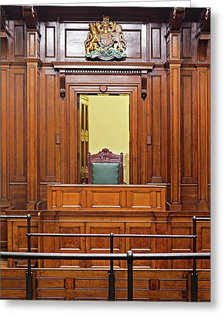 Crown Court Room Dating From 1854 Greeting Card by Ken Biggs