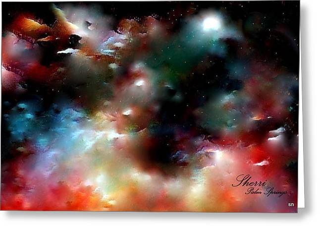 Crystal Universe Greeting Card by Sherri's Of Palm Springs