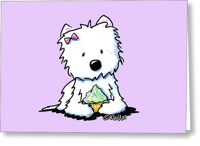 Cupcake Westie Greeting Card