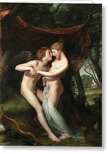 Cupid And Psyche In The Nuptial Bower Greeting Card