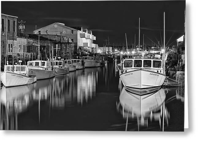 Custom House Wharf Greeting Card by Richard Bean