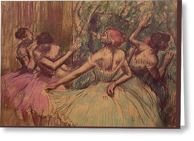 Dancers In The Wings Greeting Card
