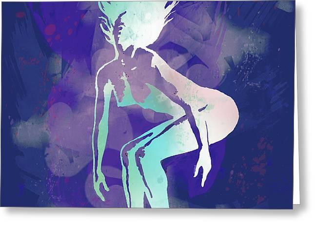 Dancing Nude -  Pop Art Poster  Greeting Card