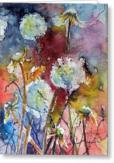 Dandelion Greeting Card by Kovacs Anna Brigitta