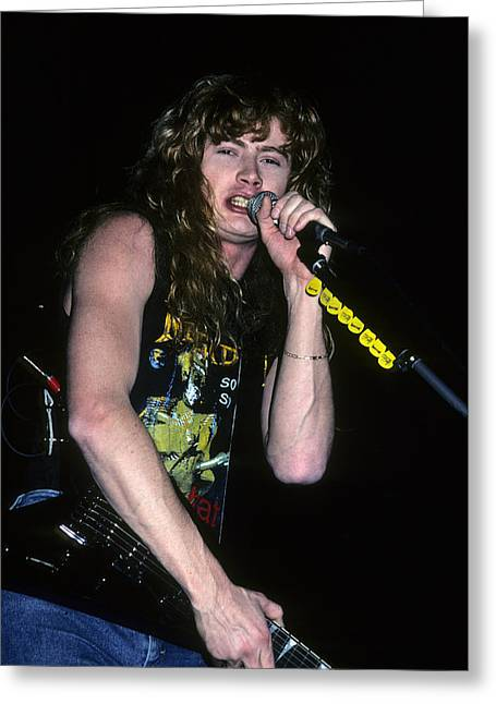 Dave Mustaine Of Megadeth Greeting Card