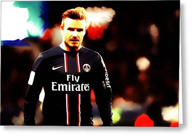 David Beckham 5c Greeting Card by Brian Reaves