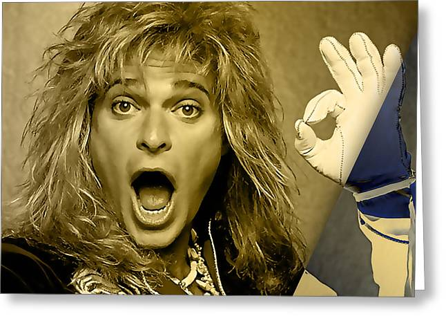 David Lee Roth Collection Greeting Card by Marvin Blaine