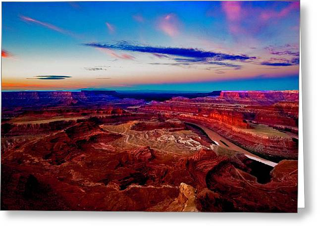 Greeting Card featuring the photograph Dead Horse Point by Norman Hall