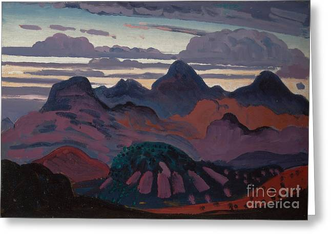 Deep Twilight Pyrenees  Greeting Card