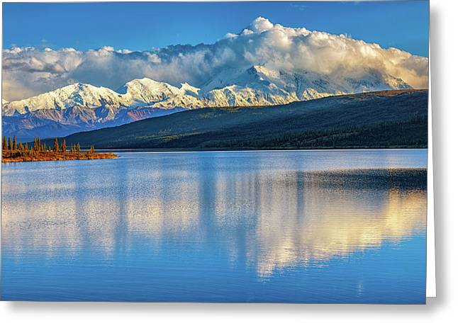 Denali Greeting Card by Rick Berk