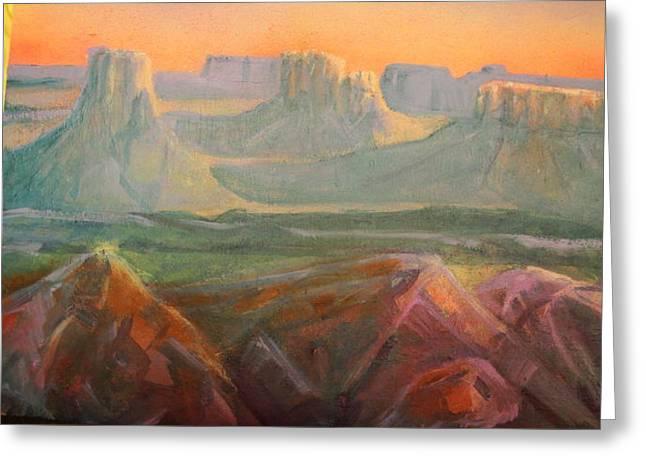 Desert Dawn Greeting Card by Steven Holder