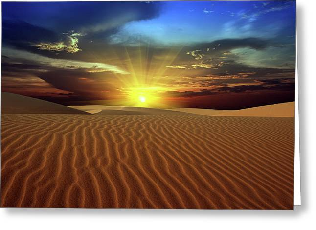 Best Sellers -  - Sahara Sunlight Greeting Cards - Desert Greeting Card by MotHaiBaPhoto Prints