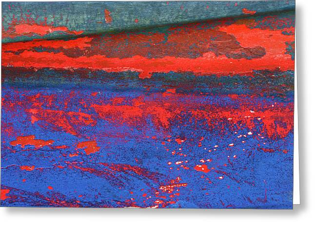 Detail Of Rust On Boats In Rungsted Havn / Harbor Greeting Card