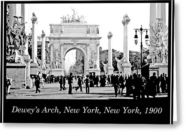 Dewey's Arch, New York, 1900, Vintage Photograph Greeting Card by A Gurmankin